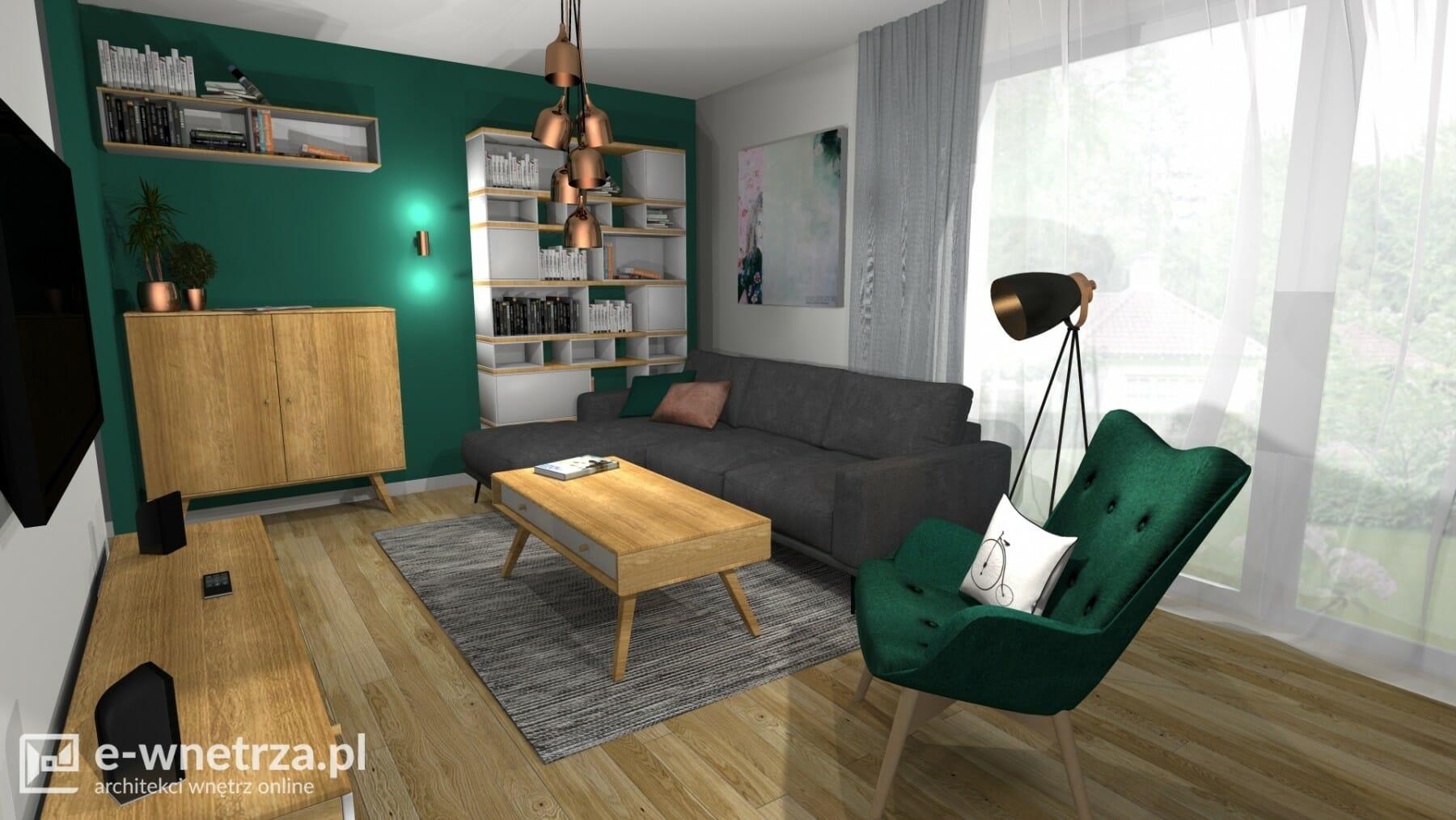 Projekt Salonu Z Kuchnią E Wnetrzapl Projektowanie